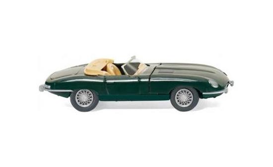 081705 wiking jaguar e type cabrio gr n 1 87 ebay. Black Bedroom Furniture Sets. Home Design Ideas